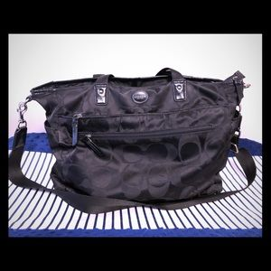 Coach nylon diaper bag